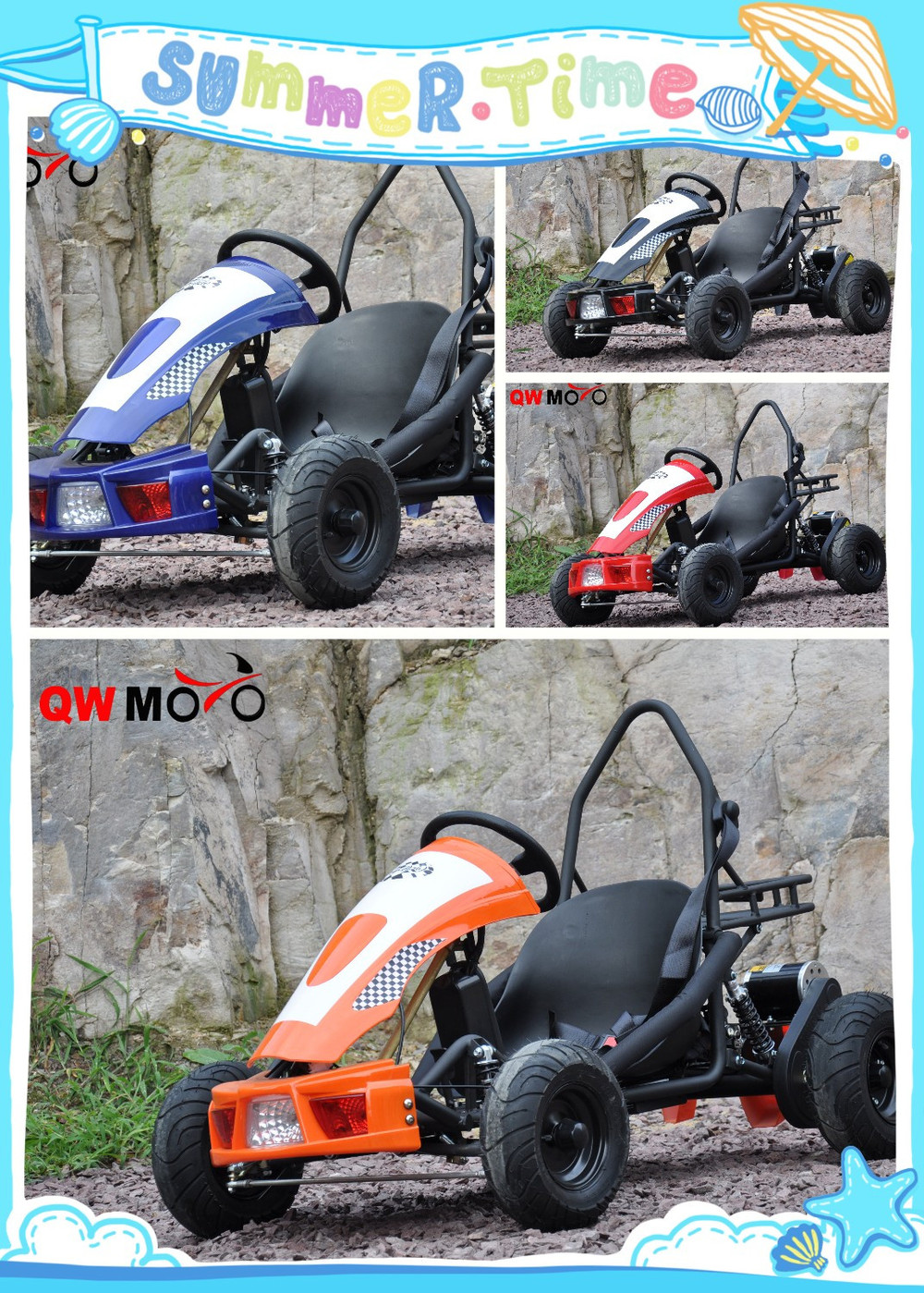 qwmoto china factory cheap buggy 500w electric go kart. Black Bedroom Furniture Sets. Home Design Ideas
