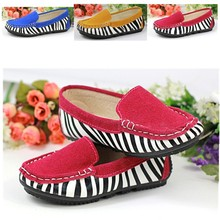 FC1200 Stripe leather 2016 spring autumn canvas kids shoes casual children shoes