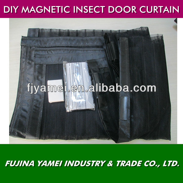 2013 new designe DIY magnetic screen door curtain with velcro roll