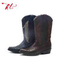 Special design ladies leather boots,cowboy motorcycle boot