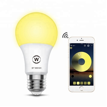 smart home magic light bluetooth mesh led bulb rgbw lamp 4.5W adjustable free app a60  timers  holder e27 certificate CE RoHS