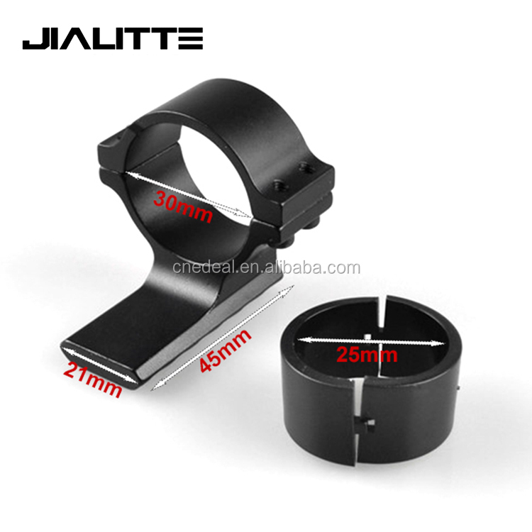 Jialitte J042 25.4mm Ring huntiing mounts 30mm weaver Picatinny rail Adapter for Tactic flashlight Rifle Scope