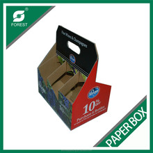 6 PACK/BOTTLE WINE CARRIER BOX WITH HIGH QUALITY
