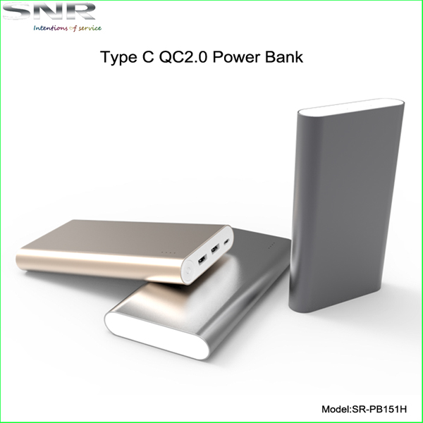 full capacity type c emergency power pack smart qc2.0 quick charger unique design backup for cell phone