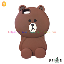 3D Cute Doll Toy Cool Plush Teddy Bear Cover Shockproof Dirt Dust Proof Case For Apple iPhone