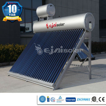CE, EN12975, Solar KMK approved 10 years warranty 300L copper water container