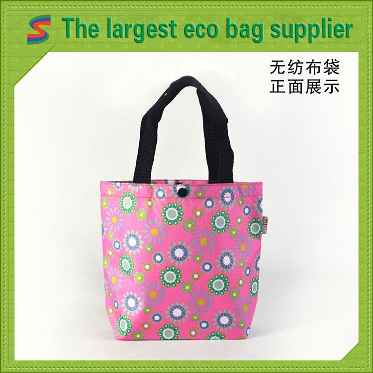 Fashion Non Woven Bag In Gold Logo 2010 Non Woven Shopping Bag