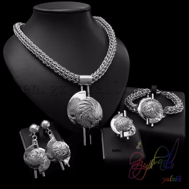 316L stainless steel jewelry set heavy indian bridal jewelry sets african fashion jewellery