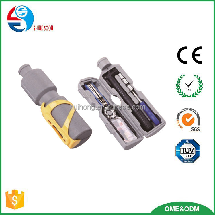 New Design bicycle repair tool set with plastic bottle box