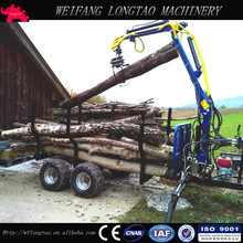 Log trailer with crane/ Log Loading Trailer/ATV Wood Trailer Grapple LT3000