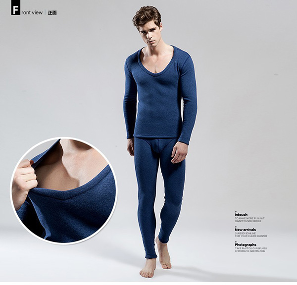 Luxury 100% Modal men thermal underwear suit