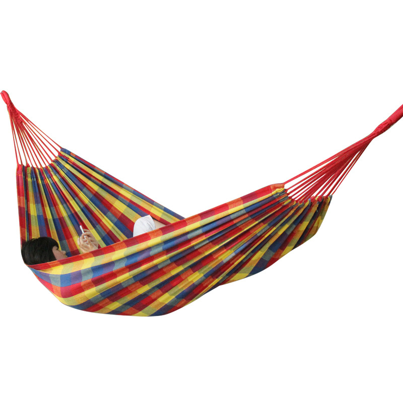 New Parachute Portable Canvas Fabric Travel Camping Hammock Child Crochet Aerial Hammock