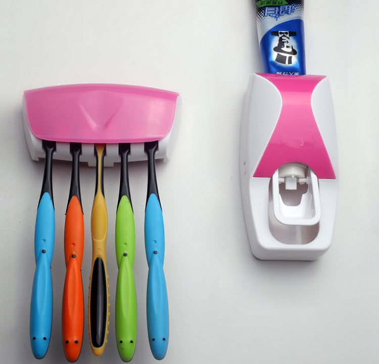 Dust proof Toothbrush Holder Plastic Toothpaste Squeezer
