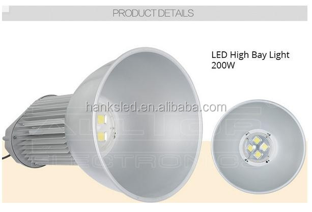 Low price 5 YEAR Warranty Meanwell Bridgelux 4100K 200W led high bay light