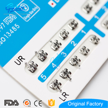 Dental Material Oral .022 Metal Ligating Monoblock Mesh Base Mini Standard Edgewise Roth Brace Orthodontic Brackets Orthodontics