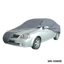 cheap waterproof oxford coated silver car cover