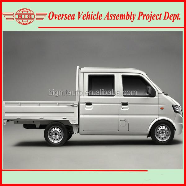 assemble RHD/LHD RWD double cabin gasoline mini truck with