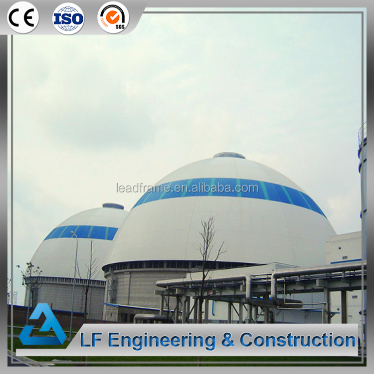 Dome roof steel structure prefab factory building