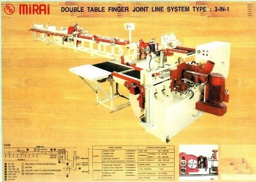 Woodworking machine Double Table Finger Joint Line System Type: 3-IN-1