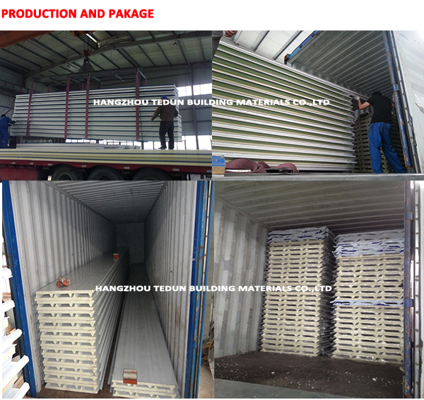 PU sandwich panel roof sheet