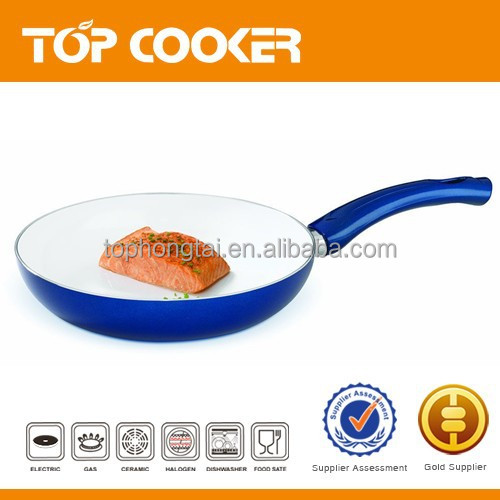 Healthy life White ceramic fry pan no oil for Beef steak