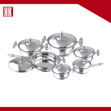 Kitchen Items Dinner Set Stainless Steel Cooking Pot Cookware Set