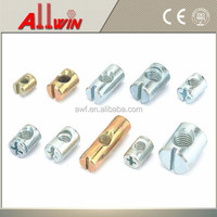 Barrel Bolts Cross Dowel Slotted Furniture Nut for Beds
