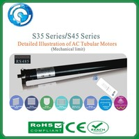 AC tubular motor applicable to motorized roman shades, motorized venetian blinds and motorized roller system