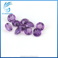 High quality 4mm amethyst round shape natural gemstone for wholesale
