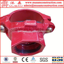 FM UL Pipe Accessories Mechanical reducing lateral Tee Threaded dimension
