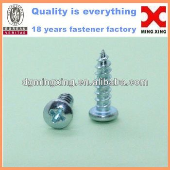 white zinc plated self tapping screws