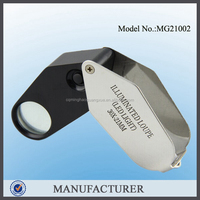 MG21002 10x Chrome Metal Jewelers Loupe Eye Loupe