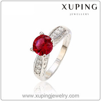 13025- Xuping Wholesale Charms Fake diamond gemstone Wedding Rings Jewelry