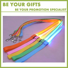 Promotional Custom Logo Nylon adjustable reflective led dog leash wholesale