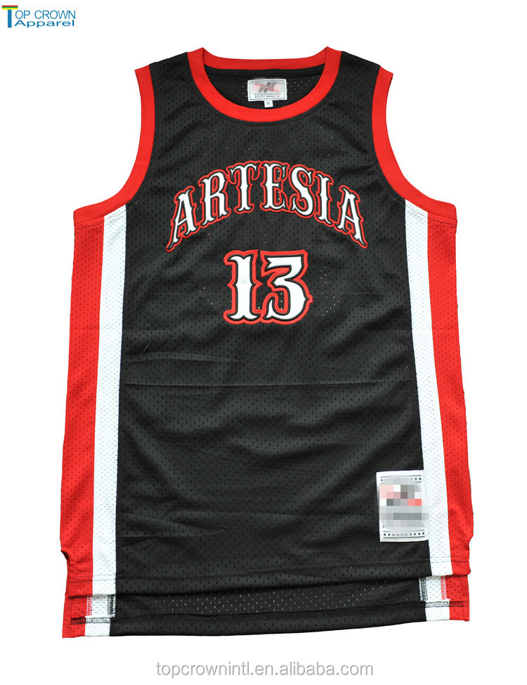 Custom Basketball Jersey With Logo Tackle Twill BJ77