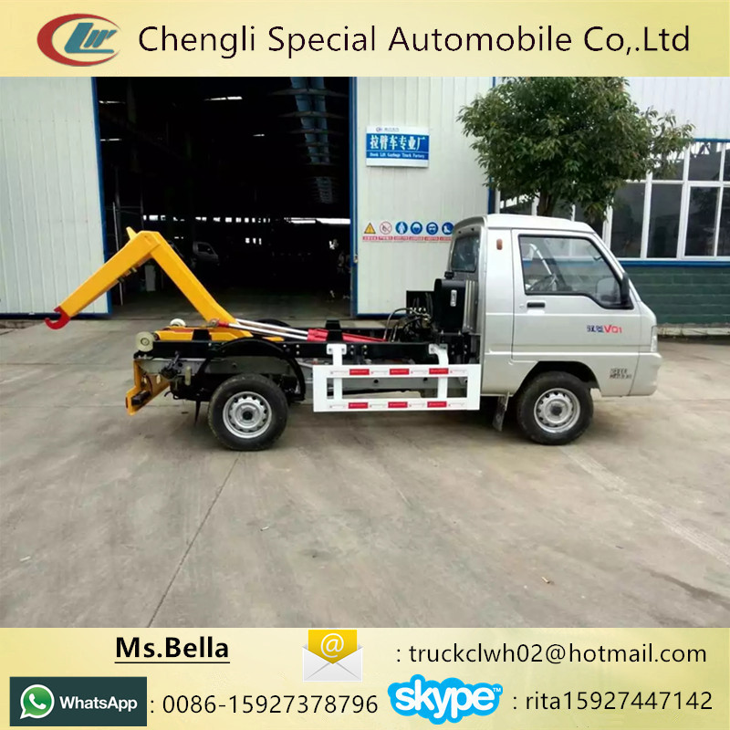 Hook lift container 2-3cbm capacity of garbage trucks for sale