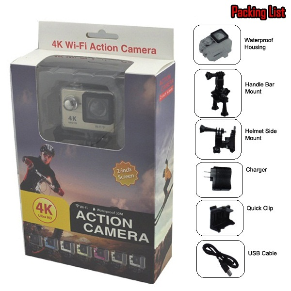 Hot Selling Full HD 4K Wireless 1080P Waterproof Mini Action Sport Camera