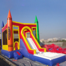 Manufacturer direct sell inflatable water slide with pool cheap german water slide