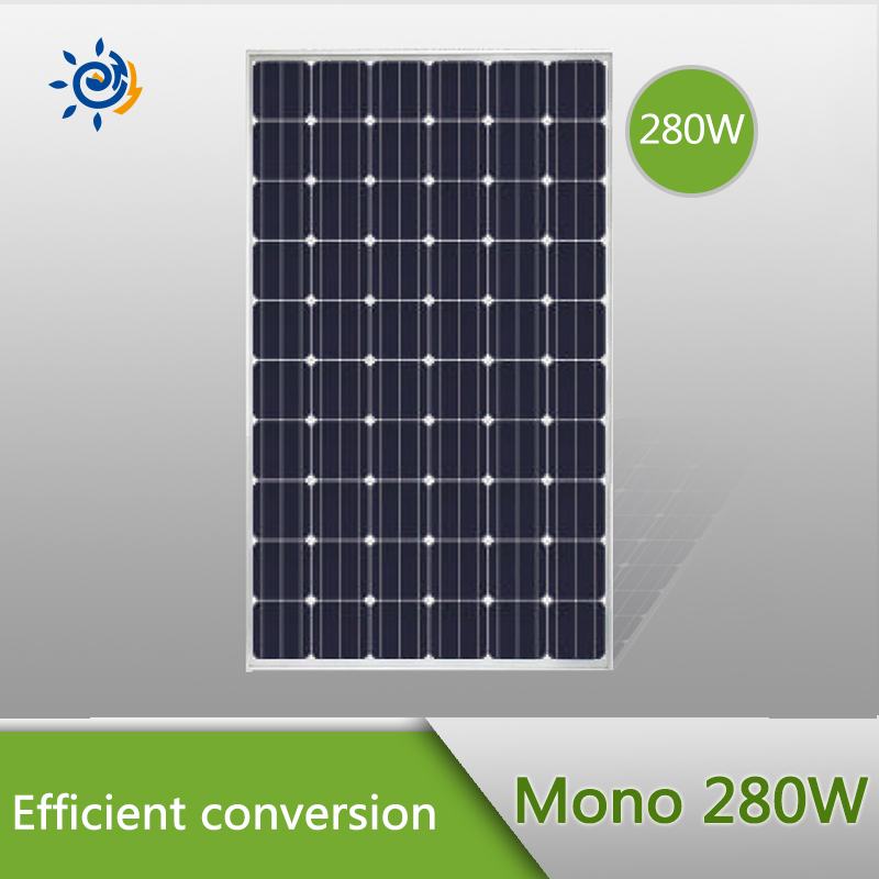 High quality mono solar panel, mono solar modules 280W