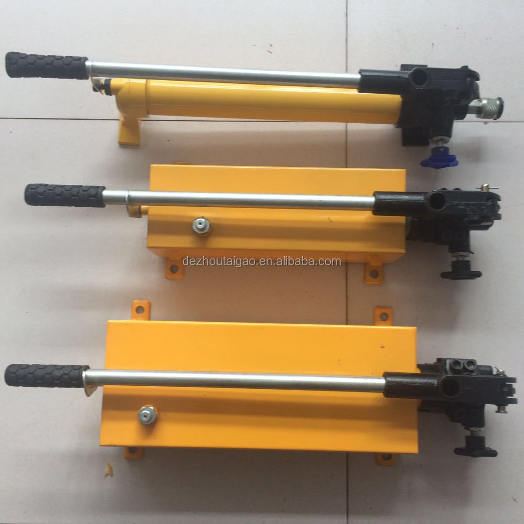 Double acting hand manual hydraulic pump, manual pump for emergency