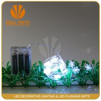 Party LED Flashing String Light Fiber Optic LED snowflake shaped string light Decor colorful wire light