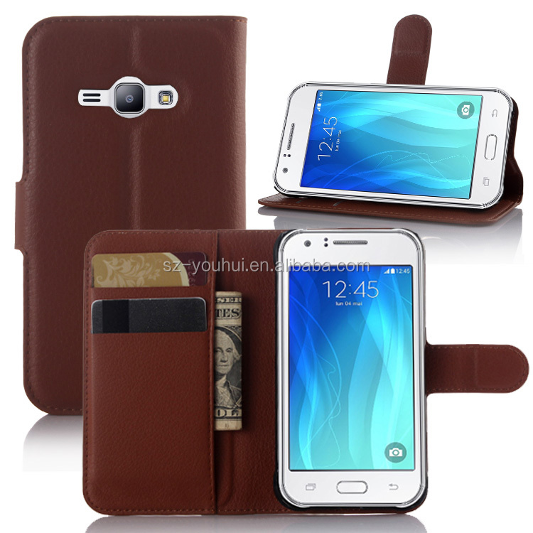 High Quality Leather Holster Card Wallet Folio Stand Flip Case Cover for Samsung GALAXY J1 ACE