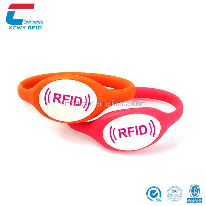 RFID UHF ISO18000-6C Alien H3 Programmable UHF Rfid Silicon Wristband Tags
