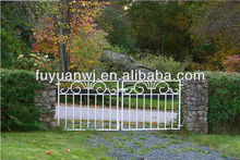 factory galvanized steel fences and gates for yard