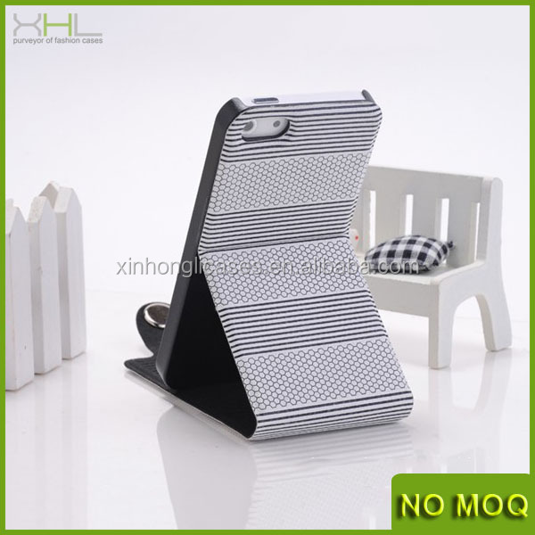 For iphone 5s flip leather case with stand, mobile phone cover for iphone