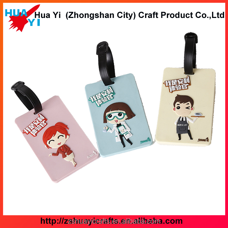 High Quality Personalized PVC Cartoon Characters Luggage Tag Straps - HuaYi Crafts Factory