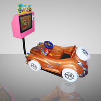 "Milord Karting Car Coin Operated Swing Kiddie Ride With 17"" Video Game"