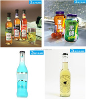 Empty clear cocktail mix bottle glass juice bottle/ beverage glass bottle wholesale
