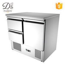 CE approval pizza working 3 door commercial refrigerator for hotel & restaurant kitchen