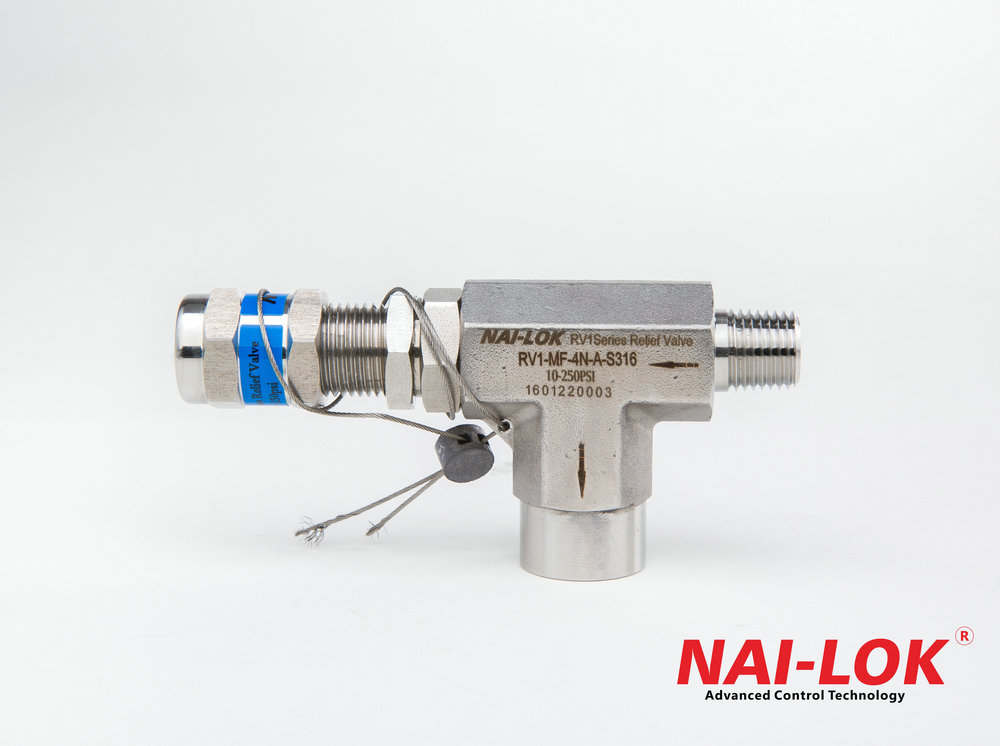 open pressure about 0-250 psi Stainless steel relief valve